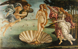 The Birth of Venus, by Sandro Botticelli c. 1485–1486