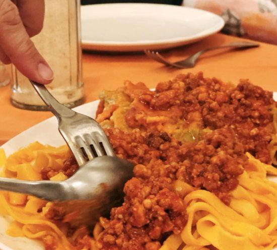 Tagliatelle and Lasagne dish