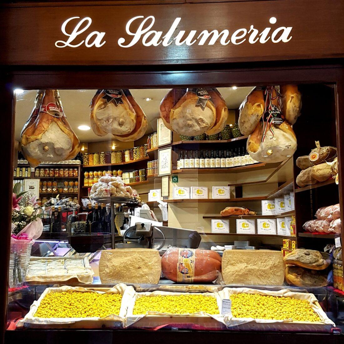 Window of shop Bruno e Franco in Bologna